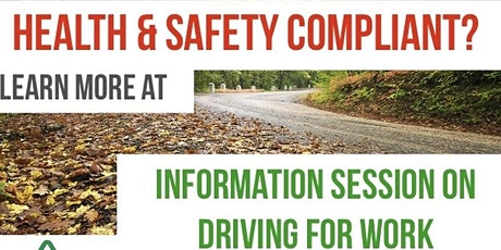 Health and Safety Compliance - Information session on Driving for Work  tickets