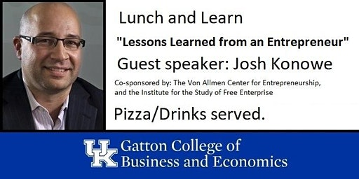 Lunch and Learn - Guest Speaker : Josh Konowe