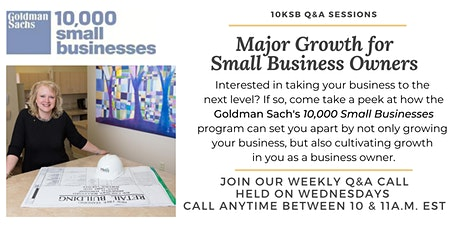 10KSB Weekly Q&A Call tickets
