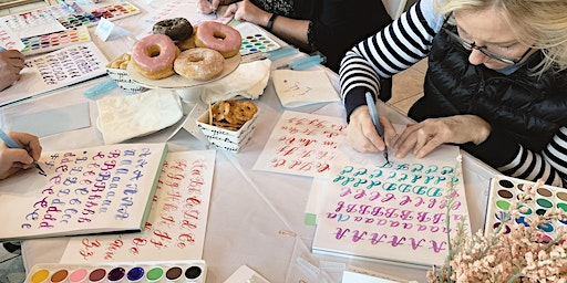 Watercolor Brush Calligraphy Class in Easton, PA in Lehigh Valley