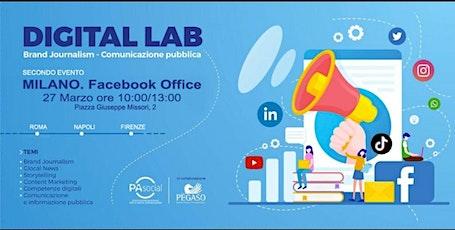 Digital Lab: Brand Journalism  - Comunicazione Pubblica tickets
