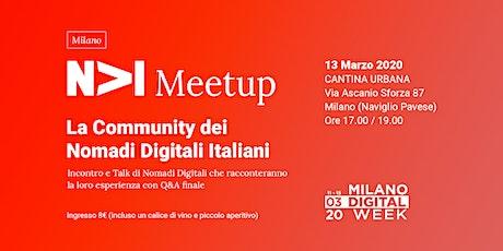 NOMADI DIGITALI ITALIANI - Conferenza, talk e incontro tra nomadi digitali biglietti