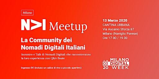 NOMADI DIGITALI ITALIANI - Conferenza, talk e incontro tra nomadi digitali