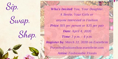 "The ""Purposed"" Fashion Swap tickets"