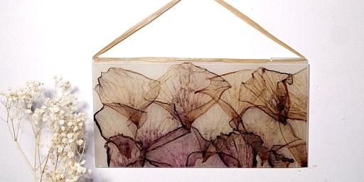DIY Pressed Flower Window Hanging