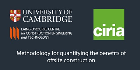 Report Launch- Methodology for quantifying benefits of offsite construction tickets