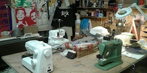 Confection de lingettes lavables et panier de rangement en tissus