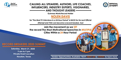 #RecordBreakers 2020 Summit & Guinness World Record Attempt