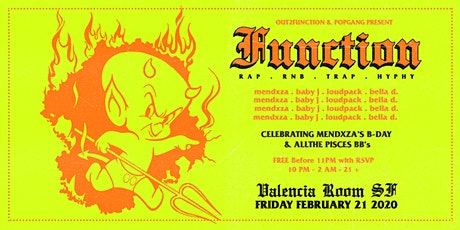 FREE RSVP: FUNCTION (Hip Hop & RNB) at VALENCIA ROOM tickets