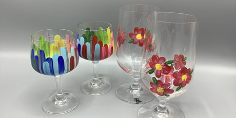 Enamel- Painted Wine Glasses or Bowls tickets