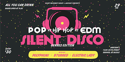 All You Can Drink Genres Edition Silent Disco