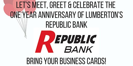 GLRBA Networking Mixer at Republic Bank of Lumberton tickets