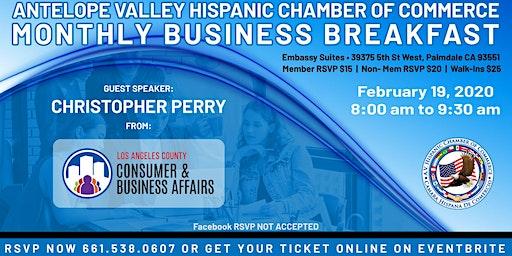 AVHCC February 2020 Business Breakfast