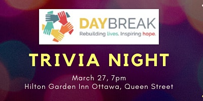 Trivia Night for Daybreak Non-Profit Housing