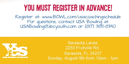 FREE USA Bowling Coach Certification Seminar - Sarasota Lanes, Sarasota, FL
