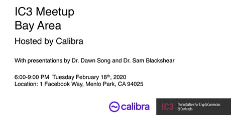 IC3 Meetup Hosted by Calibra tickets