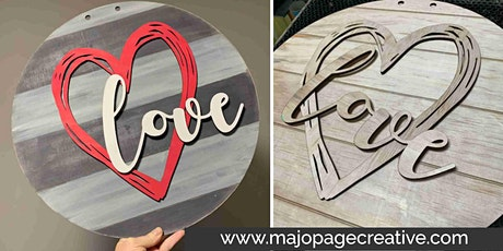 "DIY Workshop - 18"" Layered Wooden Sign - Choice of designs/colours tickets"