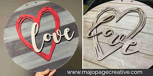 "DIY Workshop - 18"" Layered Wooden Sign - Choice of designs/colours"