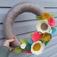 Spring Wreath Adult Craft