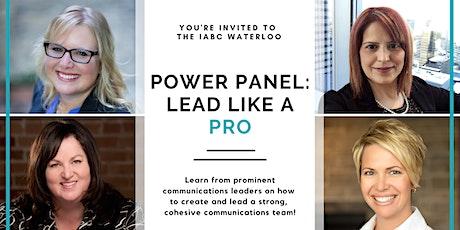 Power Panel: Lead Like a Pro tickets