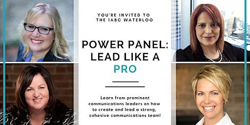 Power Panel: Lead Like a Pro
