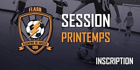 Inscription (École de soccer)(U5-U14)(Groupe-1 Dimanche 8h00) - Session Printemps 2020 (2015-2006) billets