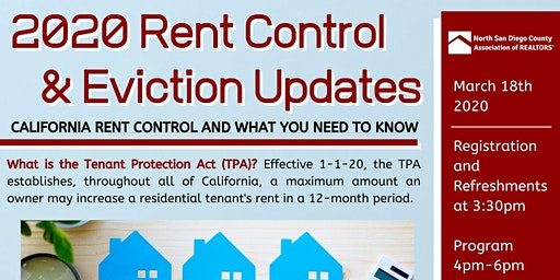 2020 Rent Control & Eviction Updates