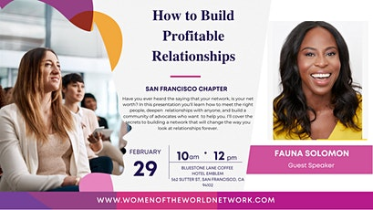 Women Of The World Networking San Francisco Chapter tickets