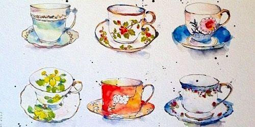 Still-life Watercolour Painting Workshop - Vintage Tea Theme