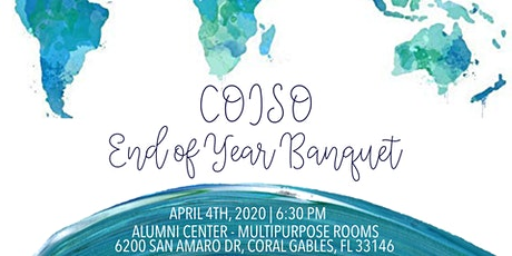 COISO's End of Year Banquet 2020 tickets