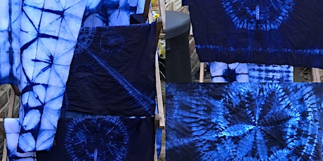 Stitched Shibori and Indigo dyeing tickets