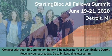StartingBloc All Fellows Summit: Detroit, MI 2020 tickets