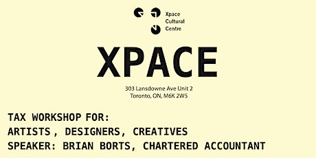 Tax Workshop for Artists and Creatives tickets
