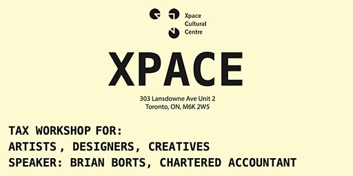 Tax Workshop for Artists and Creatives
