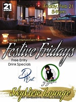DHugg ENT Presents Festive Friday's @ The Skyview Lounge with DJ Geaux