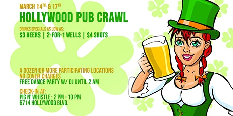 Hollywood St Patrick's Day PubCrawl tickets