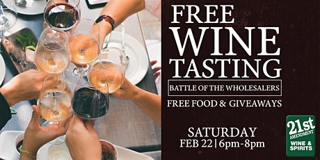 Free Wine Tasting - Battle Of The Wholesalers! tickets