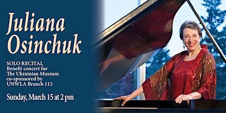 Juliana Osinchuk Concert Pianist Benefit for Ukrainian Museum tickets