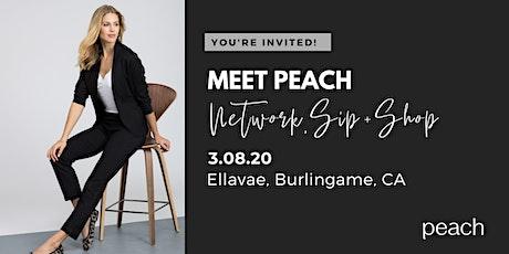 Meet Peach Sip + Shop at Ellavae tickets