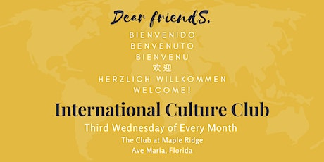 Postponed: International Culture Club — Celebrating our Diversity tickets