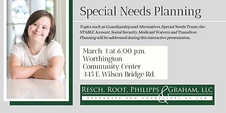 Special Needs Planning with Resch, Root, Philipps & Graham, LLC tickets