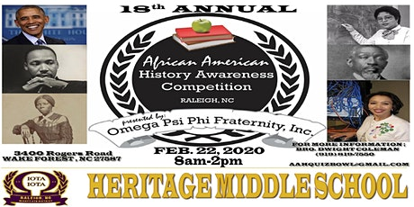 18th Annual African American History Awareness Competition tickets