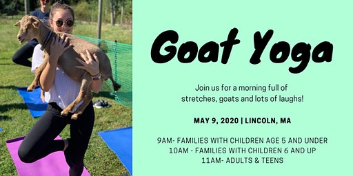 Chip In Goat Yoga at Farrington Nature Linc