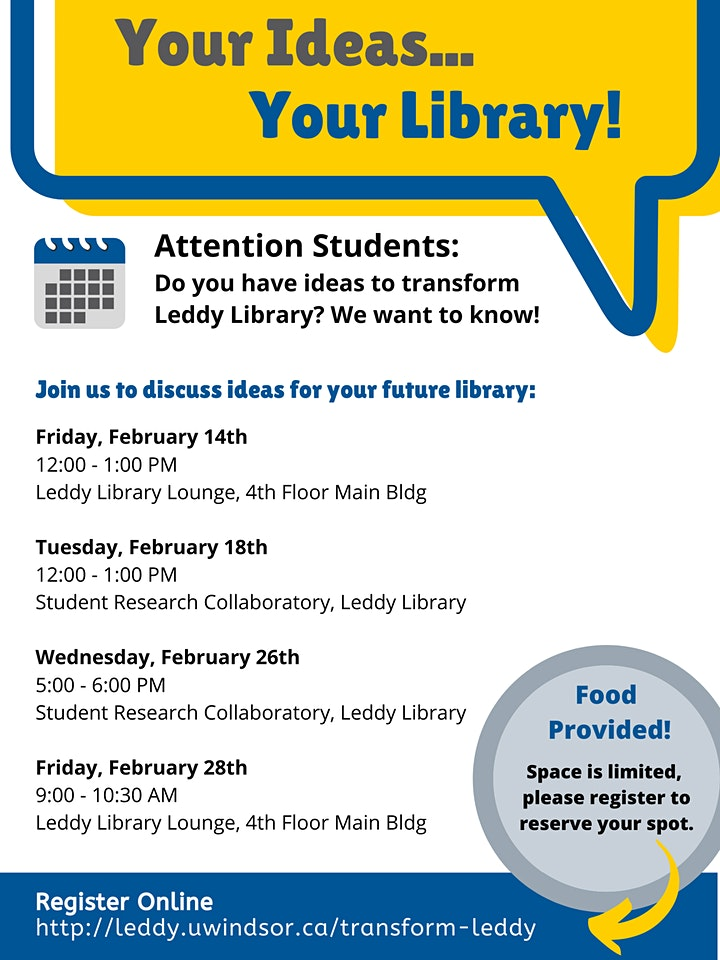 Leddy Library Transformation Student Focus Group image