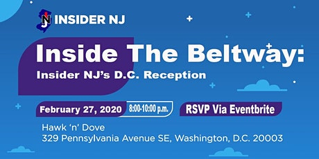 Inside The Beltway: Insider NJ's DC Reception tickets