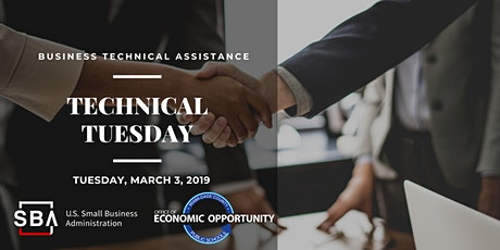 M-DCPS OEO & U.S. Small Business Administration (SBA) Technical Tuesday tickets