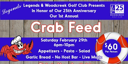 Legends 1st Annual Crab Feed