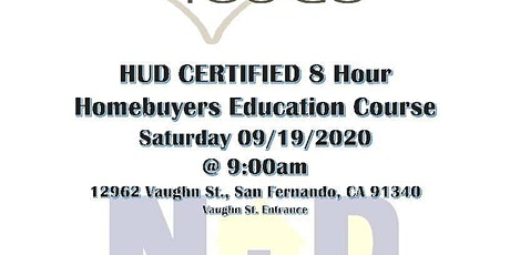 Know Before You Go - Homebuying Process 8 Hour HUD Certified tickets