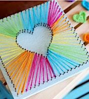 Heart String Art Sculpture