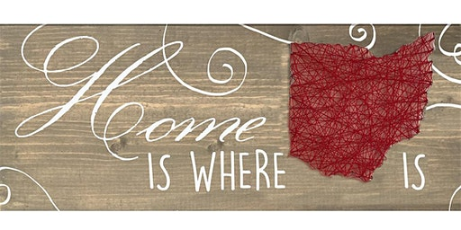 Ohio Home Wooden Sign String Art Paint Class